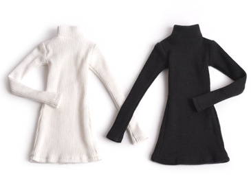 Knit Dress (White / Black)