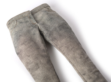 Gray straight jeans