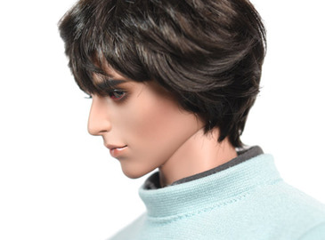 WIG : Mohair-Short Wave Black