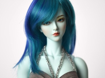 WIG : FMDSS-1108 Vintage Green-Deep Blue (5-6 inchs)